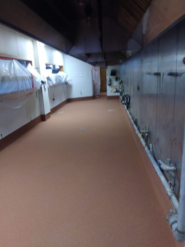 The Cobalt Restaurant Sika Floor System. SSI in Mobile, Alabama
