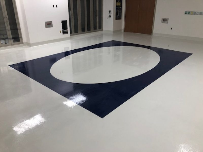 Singing River Hospital Operating Rooms, Sherwin Williams Epoxy System. SSI in Mobile, Alabama