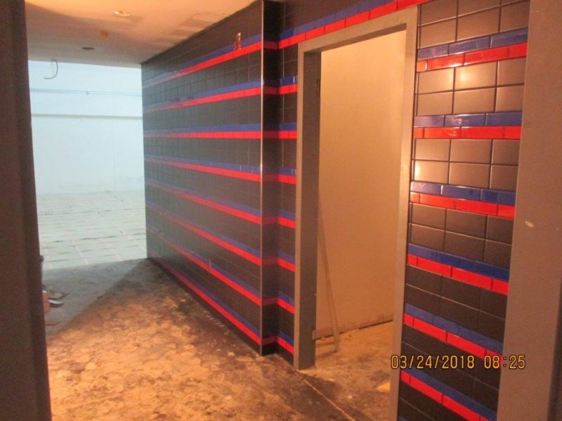 St. Tammany Parish 911 Call Center Wall Tile Installation