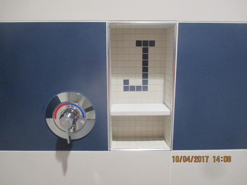 Jesuit High School Locker Room- Ceramic Tile