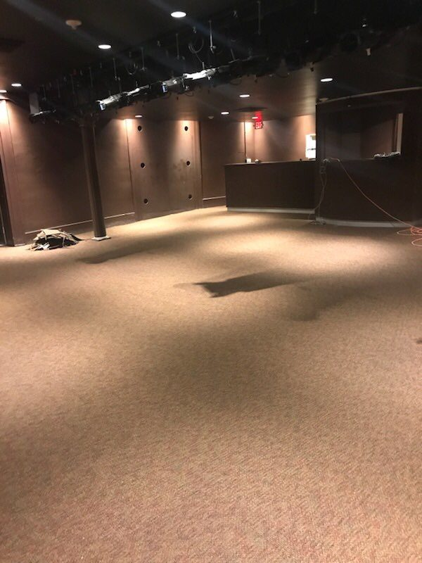 Gallier Hall Tracey Theater Remodel- Carpet Floors & Tretford Acousticord Wall Carpet